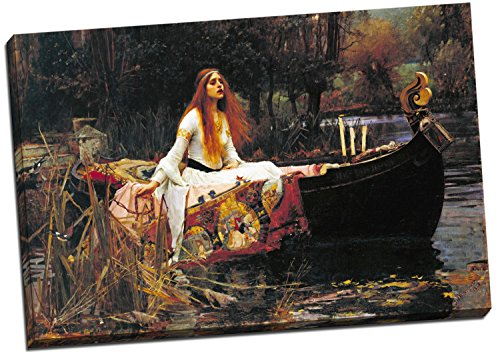 Panther Print John William Waterhouse Lady Of Shallot Canvas Print Picture Wall Art Large 30X20 - Ladies Large Pictures
