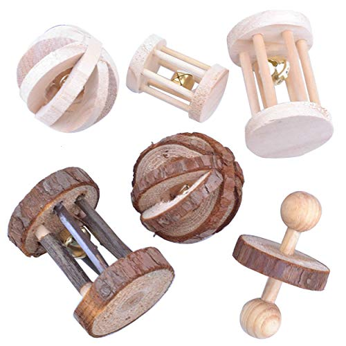Pranovo 6-Pack Wooden Chewing Toys