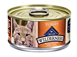 Blue Buffalo Wilderness Grain Free Canned Cat Food, Turkey Recipe (Pack of 24 3-Ounce Cans), My Pet Supplies