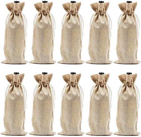 Burlap Wine Bags Drawstrings Gift product image