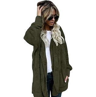 FNKDOR Womens Gilet Hiver Chaud Hoodie Outwear Casual Manteau Fausse  Fourrure Zip Up Sherpa Veste 8436352b6c69