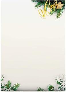 Weihnachtsbriefpapier Tannenzweige A4 100 Blatt Weihnachtliches