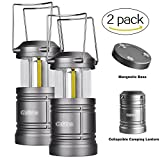 LED Camping Lantern - Camping Lantern Battery Powered - LED Lantern Lights with Magnetic Base, 30 LEDs COB Technology Water Resistant Collapsible 500lm, camping gear equipment