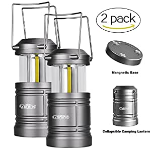 Camping Lantern Battery Powered - LED Lantern Lights with Magnetic Base, 30 LEDs COB Technology Water Resistant Collapsible 500lm, camping gear equipment
