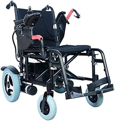 Yuzhonghua Personas discapacitadas silla de ruedas eléctrica, joysticks silla de ruedas plegable portátil de ancianos y discapacitados 360 °, peso: 125Kg, la anchura del asiento: 45 Tamaño (baterías q