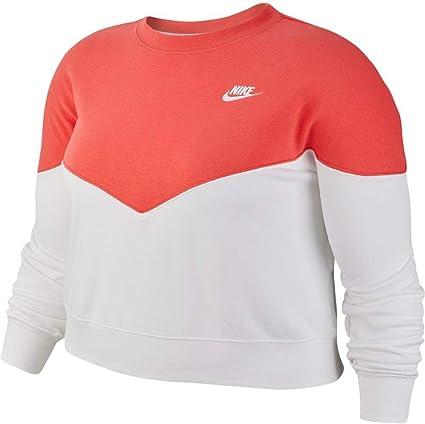 Nike Sportswear Heritage Fleece Crew (Plus Size) Sweat Shirt Femme