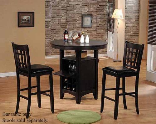Superb Amazon.com: Bar Table With Storage Base Espresso Finish   Table Only Stools  Sold Separate: Kitchen U0026 Dining