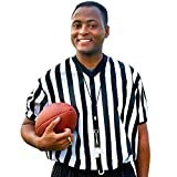 Crown Sporting Goods SFOO-454 Men's Official Striped Referee/Umpire V-Neck Jersey