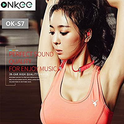 ONKEE Bluetooth Wireless Headphones Earbuds | Comfy, Magnetic & Waterproof Earphones, Crisp Stereo Sounds & Bass, Noise Cancelling, Long Battery Life | For Running, Sports, Travels & More