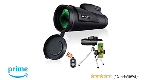 Monocular telescope tatufy hd dual focus low night vision