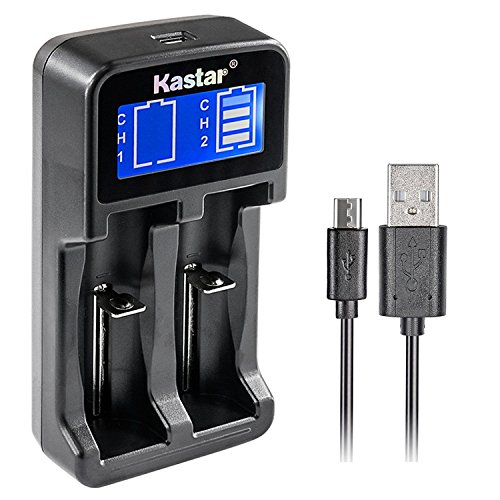(Kastar Intelligent LCD USB Charger for LG HG2, 18650, 26650, 18500, 18490, 18350, 17670, 17500, 16340, RCR123, 14500, 10440 3.7V Lithium Batteries, A AA AAA AAAA Ni-MH / Ni-CD 1.2V Batteries)