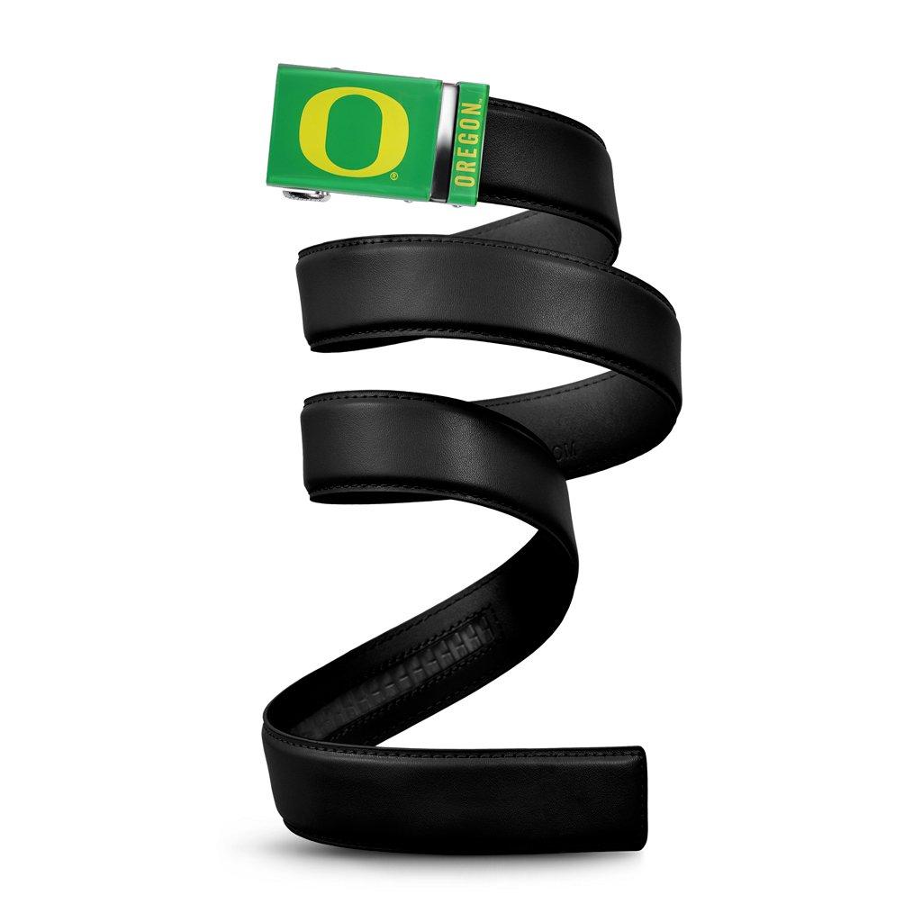 Mission Belt NCAA Oregon Ducks, Green Buckle, Black Leather, Large (up to 38) OREG-HOL-1.5-L