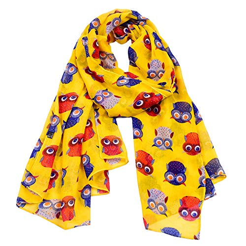 Woogwin Women's Cotton Scarves Lady Light Soft Fashion Solid Scarf Wrap Shawl (One Size, Z-AnimalYellow)