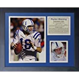"""Legends Never Die """"Peyton Manning Indianapolis Colts Away"""" Framed Photo Collage, 11 x 14-Inch"""