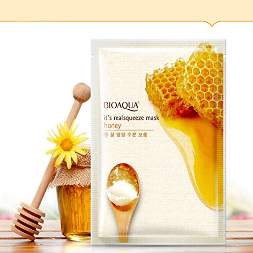 - Binmer(TM) Honey Lemon Rose Facial Face Mask Sheet Essence Replenishment Moisture Mask (A)