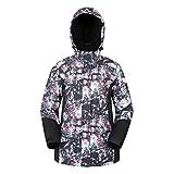 Mountain Warehouse Dawn Womens Ski Jacket - Ladies Winter Snow Jacket Monochrome 10