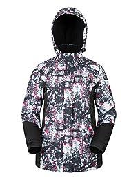 Mountain Warehouse Dawn Womens Ski Jacket - Ladies Winter Snow Jacket Monochrome 14