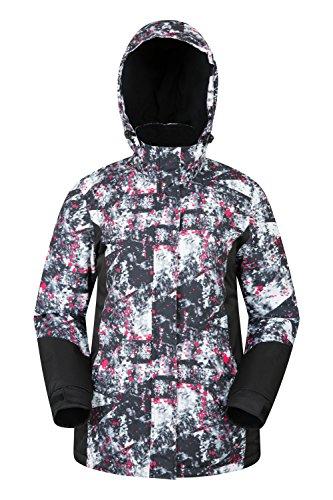 Mountain Warehouse Dawn Womens Ski Jacket - Ladies Winter Snow Jacket Monochrome 8 ()