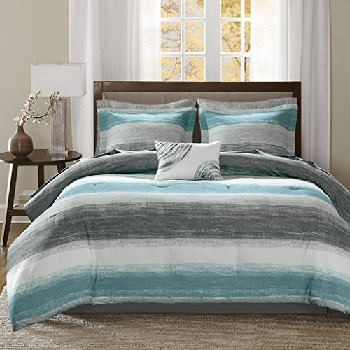 (Madison Park Saben Comforter and Cotton Sheet Set)