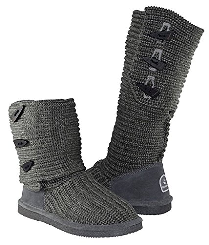 Bearpaw Womens Knit Tall Winterlaars (6 B (m) Us, Grey Ii)