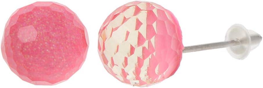 Haptian Pendientes de botón con Bola de Cristal de Abdominales austríacos para Mujeres, Poste de Boda, Dama de Honor, joyería