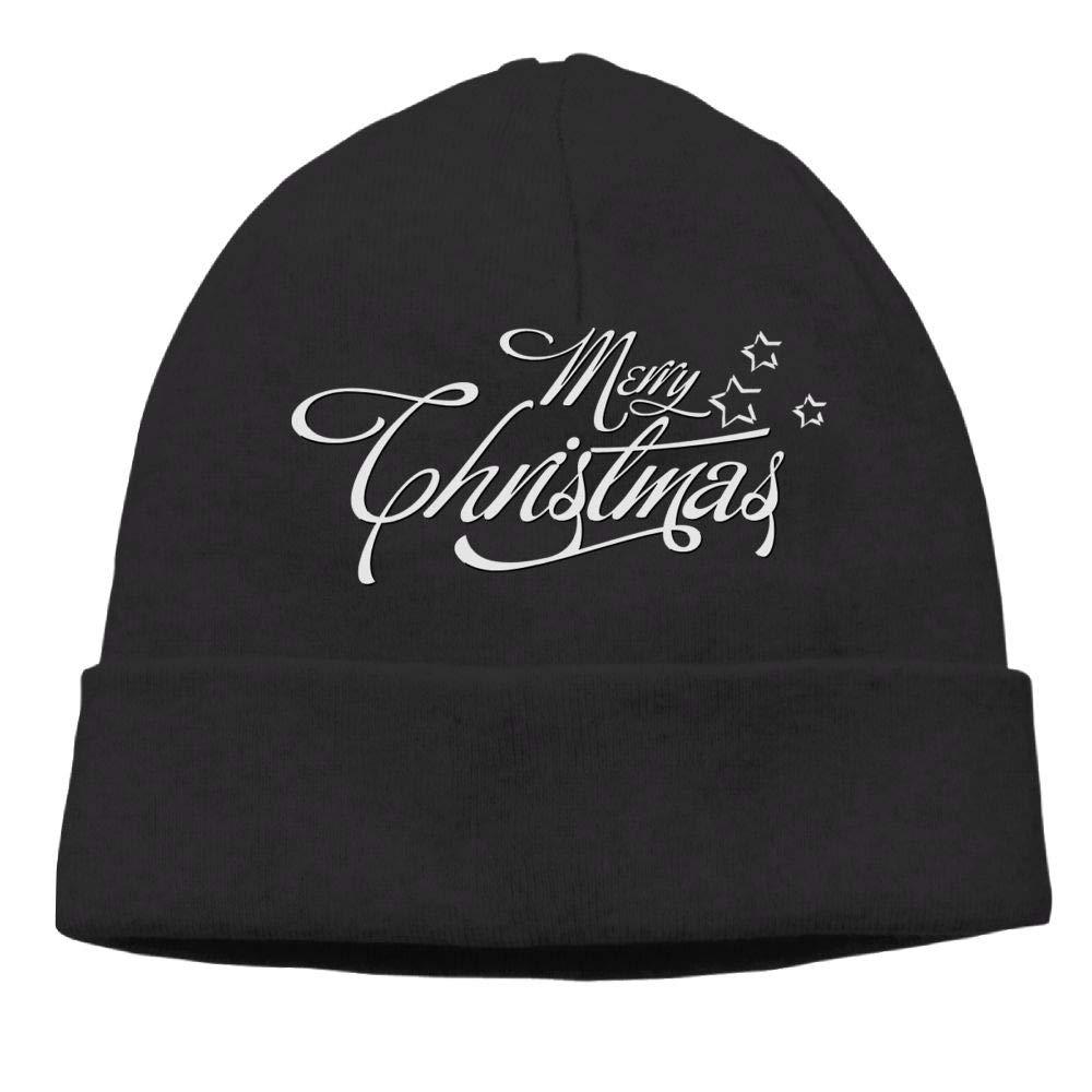 Oopp Jfhg Merry Christmas with Stars Beanie Knit Hat Ski Cap Mens