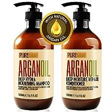 Moroccan Argan Oil Shampoo and Conditioner, SLS Sulfate Free