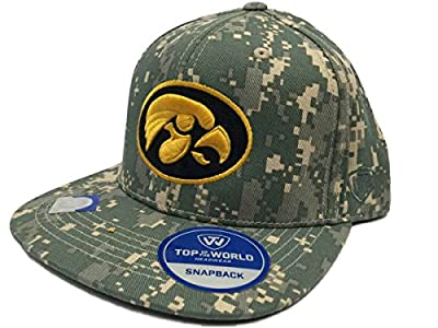 Top of the World Iowa Hawkeyes TOW Digital Camouflage Patriot Snap Adjustable Snapback Hat Cap from Top of the World