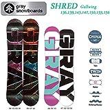 15-16 GRAY グレイスノーボード SHRED