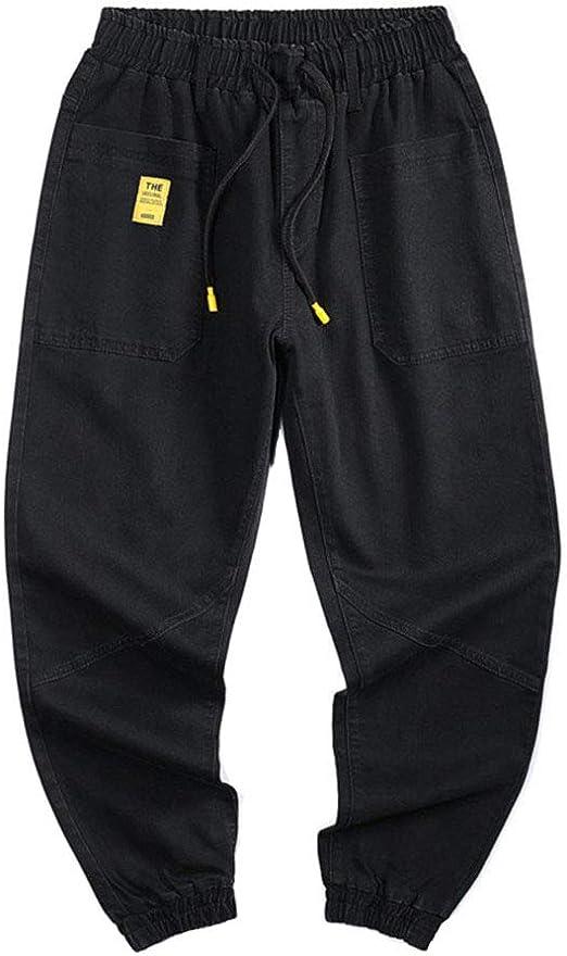 秋のメンズジーンズパンツ新メンズプラスサイズのジーンズファッションカジュアルヒップホップルーズデニムジーンズパンツハーレムパンツS-6XL,黒,6XL
