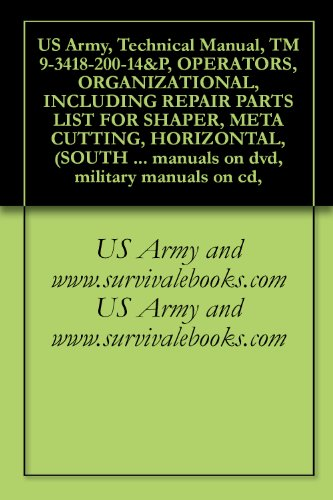 US Army, Technical Manual, TM 9-3418-200-14&P, OPERATORS, ORGANIZATIONAL, INCLUDING REPAIR PARTS LIST FOR SHAPER, META CUTTING, HORIZONTAL, (SOUTH BEND ... manuals on dvd, military manuals on cd,