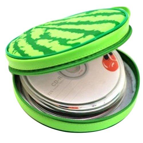 Topbeu Portable 24-disc CD Storage Case Bag CD DVD Carrying Case CD Holder Storage Box (Watermelon)