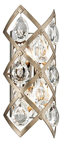 - Vienna Bronze Tiara 2 Light Hand Crafted 6.75in. Wide Wall Sconce with Clear Crystal Diffusers - ADA Compliant