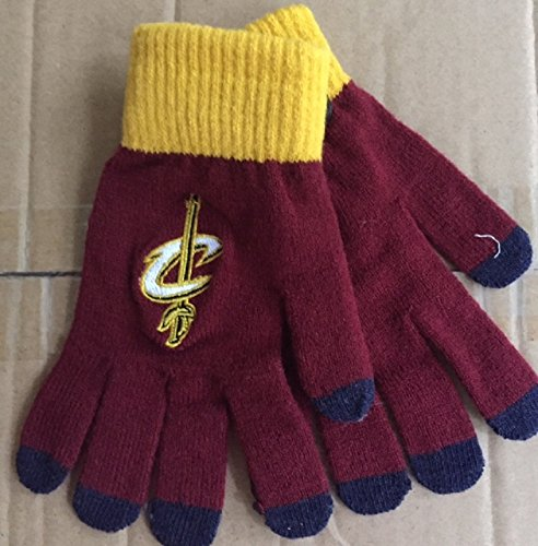 Free Cleveland Cavaliers Solid Knit Gloves