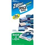 Ziploc Space Bag 4-Large Vaccum Bags, Clear