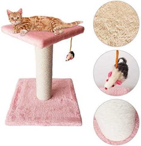 Maxmer Postes Rascadores Gatos Rascador Torre Gatos, Color Rosado: Amazon.es: Productos para mascotas