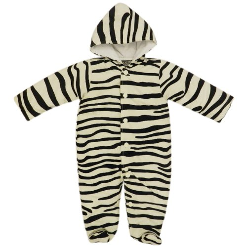Zebra Print Warm Snowsuit for Infants 6-9 Months ()