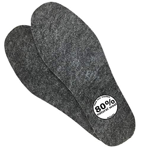 Insoles Felt (Adult Wool Felt Warm Insoles, Winter Heated Shoe Insoles,Natural Wool Insoles,Warm Lambs Wool Insoles for Men and Women (8))
