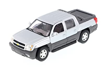 Amazon Welly 2002 Chevy Avalanche Pick Up Truck Silver 22094