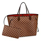 BELIKSTORE Ladies Shopper Checkered Handbag Neverfull Style Canvas Tote Bag for Women Top Handle Ladies Girls Shoulder Bag Water Resistant Lightweight Fashion Satchel Purse by ROMAN BELIKOV