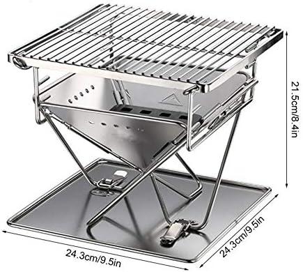 ZXL Grill Pliant, Portable Barbecue en Acier Inoxydable Grill Barbecue Pliant Barbecue en Plein air Barbecue Grill Camping Pique-Nique Barbecue Outil Barbecue Accessoires