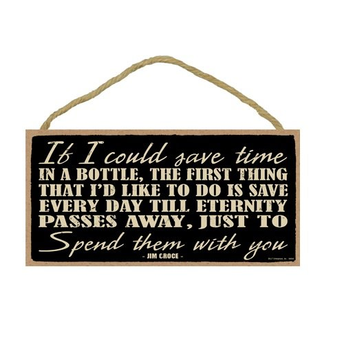 [If I Could Save Time In A Bottle By Jim Croce Primitive 5 X 10 Wood Plaque Sign] (Youll Large Poster)
