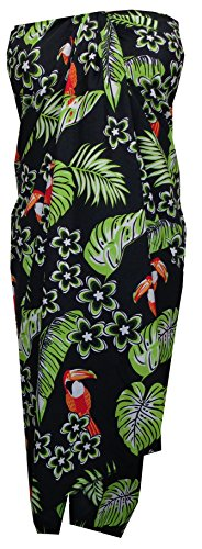 543cca217f Sarong Toucan Bird Beach Swimsuit Wrap Plus Size Bikini Cover up Pareo Black