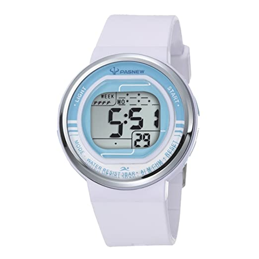 De dibujos animados para niños Seguir/Chicas relojes Sport/Jalea reloj digital regalos de cumpleaños-blanco: Amazon.es: Relojes