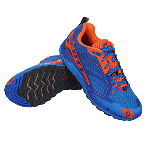 政府狼リラックスしたSCOTT(スコット) ランニングシューズ T2 Kinabalu 3.0 ブルー、オレンジ