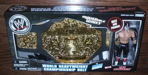 WWE World Heavyweight Championship Belt & REY MYSTERIO by WWE