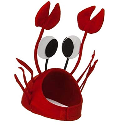 ASSUN Crab Hat Party Cap Costume Fancy Hat Seafood Lobster Cap Party Accessories: Toys & Games