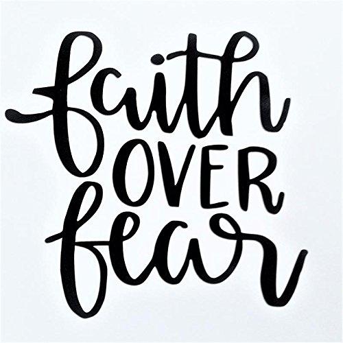 Chase Grace Studio Faith Over Fear Christian Religious Vinyl Decal Sticker|Black|Cars Trucks Vans SUV Canoe Kayak Laptops Wall Art|5.5