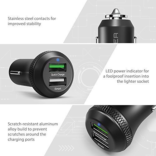 multi port android car charger