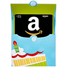 Amazon.ca $25 Gift Card in a Birthday Pop-Up (Classic Black Card Design)